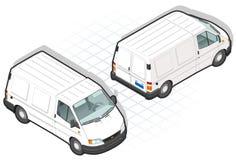 Isometrische bestelwagen vector illustratie