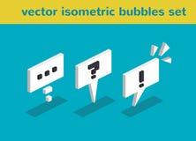 Isometrische Blasen des Vektors Stockfotografie