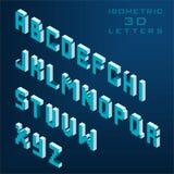 Isometrische Buchstaben des Vektor-3D Lizenzfreie Stockbilder