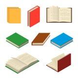 Isometrische bunte Bücher eingestellt Lizenzfreies Stockbild