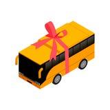 Isometrische bus met lint Stock Fotografie
