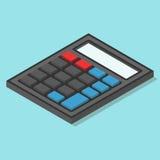 Isometrische calculator op blauw Royalty-vrije Illustratie