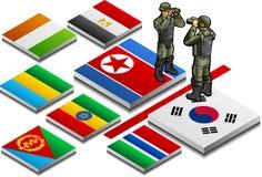 Isometrische Darstellung des militarisierten Randes Lizenzfreie Stockbilder