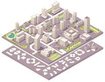 Isometrische de verwezenlijkingsuitrusting van de stadskaart Royalty-vrije Stock Foto