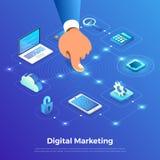 Isometrische digitale marketing stock illustratie