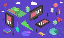 Isometrische Einzelteile für infographic Lizenzfreie Stockfotografie