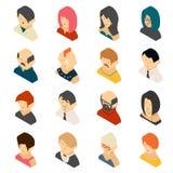 Isometrische farbige Benutzer-Ikonen-Designe Stockfotos