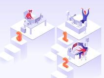 Isometrische flache Illustration des Spielturniers lizenzfreie abbildung