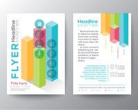 Isometrische Formdesign Broschüren-Flieger-Planvektorschablone Stockbilder