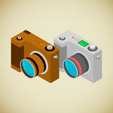Isometrische fotocamera royalty-vrije illustratie