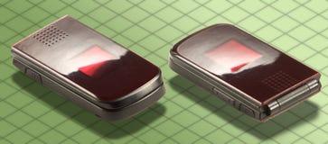 Isometrische Fotographie - drahtloses Telefon getrennt Stockfoto
