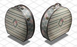 Isometrische Fotographie - Weinlesekoffer O Lizenzfreies Stockbild
