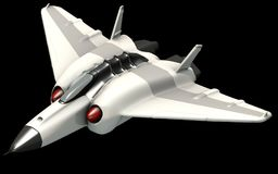 Isometrische futuristische sc.i-FI architectuur, fantasie ruimteschutter het 3d teruggeven stock illustratie