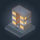 Isometrische Gebäude stellten 2 ein Stockfoto