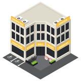 Isometrische Gebäudeikone des Vektors Lizenzfreie Stockbilder