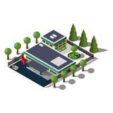Isometrische Gebäudeillustration Lizenzfreies Stockfoto