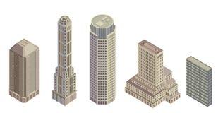 Isometrische gebouwen Stock Foto