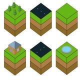 Isometrische geplaatste pictogrammen Royalty-vrije Stock Afbeelding