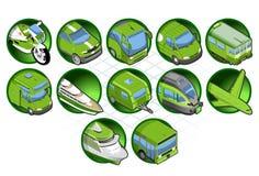 Isometrische grüne Ikone Lizenzfreies Stockbild