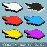 Isometrische handcurseurs Royalty-vrije Stock Fotografie