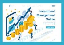 Isometrische handhabende on-line-Investierung lizenzfreie abbildung