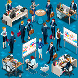 Isometrische het Pictogram 3D Vastgestelde Vectorillustratie van de Mensen Diverse Groep Royalty-vrije Stock Foto's