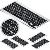 Isometrische het toetsenbordpictogrammen van de Veс piek in vier projecties Voor infographics of isometrisch ontwerp stock illustratie