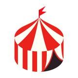 Isometrische Ikone 3d des Zirkuszeltes Stockfoto