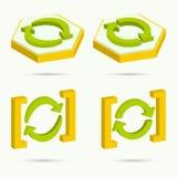Isometrische Ikonen Lizenzfreies Stockbild