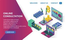 Isometrische Ikonen der Bitcoin-Landungsseiten-Website mit ico blockchain Konzept, sicheres bitcoin, cryptocurrency Bergbau, Star Stockbild