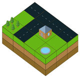 Isometrische illustratie Royalty-vrije Stock Afbeeldingen