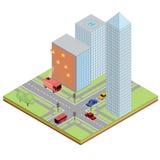 Isometrische illustratie van brand Stock Afbeelding