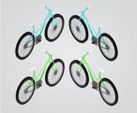 Isometrische Illustration des Fahrrad-Vektors Stockfotos