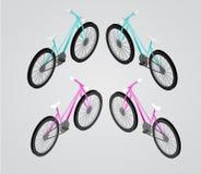 Isometrische Illustration des Fahrrad-Vektors Lizenzfreie Stockbilder