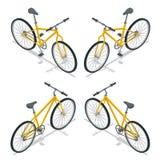 Isometrische Illustration des Fahrrad-Vektors Neues Fahrrad lokalisiert auf einem weißen Hintergrund Lizenzfreies Stockbild