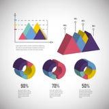 Isometrische infographic bedrijfsdiagraminformatie stock illustratie