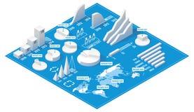 Isometrische infographic Elemente des Vektors Stockfotografie