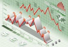 Isometrische infographic Setelemente Stockfotos