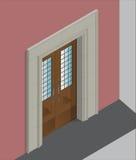 Isometrische ingang stock illustratie