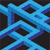 Isometrische kubuslijnen Stock Fotografie