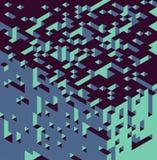 Isometrische kubussenachtergrond Royalty-vrije Stock Fotografie