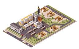 Isometrische Ölfeldikone des Vektors Lizenzfreie Stockbilder