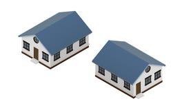 Isometrische mening van het huis de vectorbeeld Stock Foto