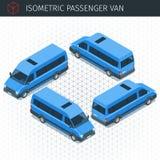 Isometrische minibusauto Stock Foto's