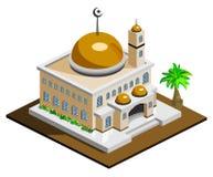 Isometrische moskee Stock Afbeeldingen