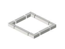 Isometrische muren Royalty-vrije Stock Foto's
