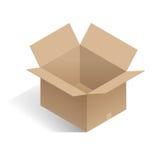 Isometrische open witte doos De realistische Doos van het Pakketkarton Vector illustratie Royalty-vrije Stock Foto's