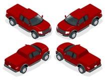Isometrische Pick-up vectorillustratie stock illustratie