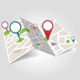Isometrische plaatskaart Stock Afbeelding