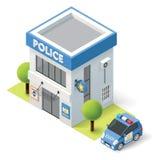 Isometrische Polizeidienststelle des Vektors Stockfoto